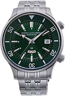 Orient RA-AA0D03E1HB Men's Weekly King Diver Stainless Steel Green Dial Day Date Automatic Watch
