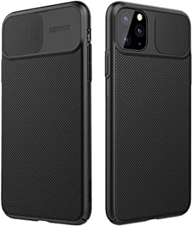 NILLKIN Funda para iPhone 11 Pro MAX 6.5 [Protección de la cámara] Estuche híbrido Parachoques Premium no voluminoso Delgado Funda rígida para PC para iPhone 11 Pro MAX 6.5 (2019) Negro