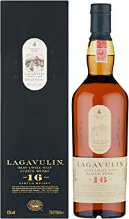 Lagavulin 16 Jahre Single Malt Scotch Whisky Trockener und rauchiger Islay Whisky, 700ml