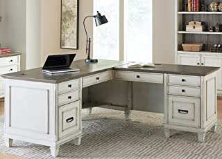 Martin Furniture Pedestal Desk, White