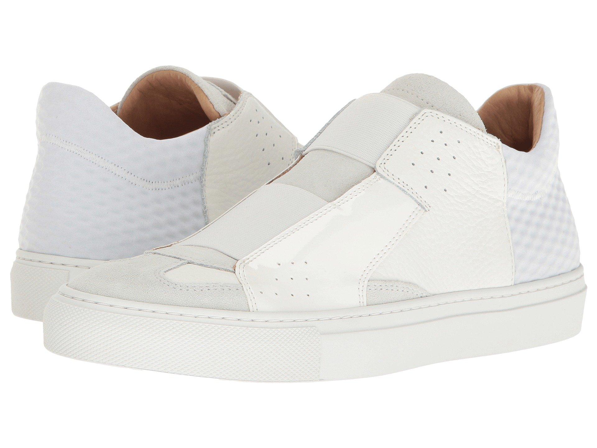 8304ef28d90 Mm6 Maison Margiela Elastic Slip-On Sneaker In White Mixed Materials