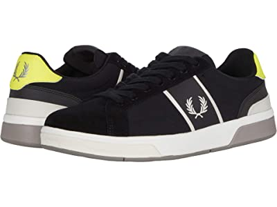 Fred Perry B200 Ripstop/Suede (Black/Snow White) Men