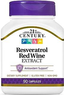 خلاصة النبيذ الاحمر من 21 ست سينشري، 90 كبسولة