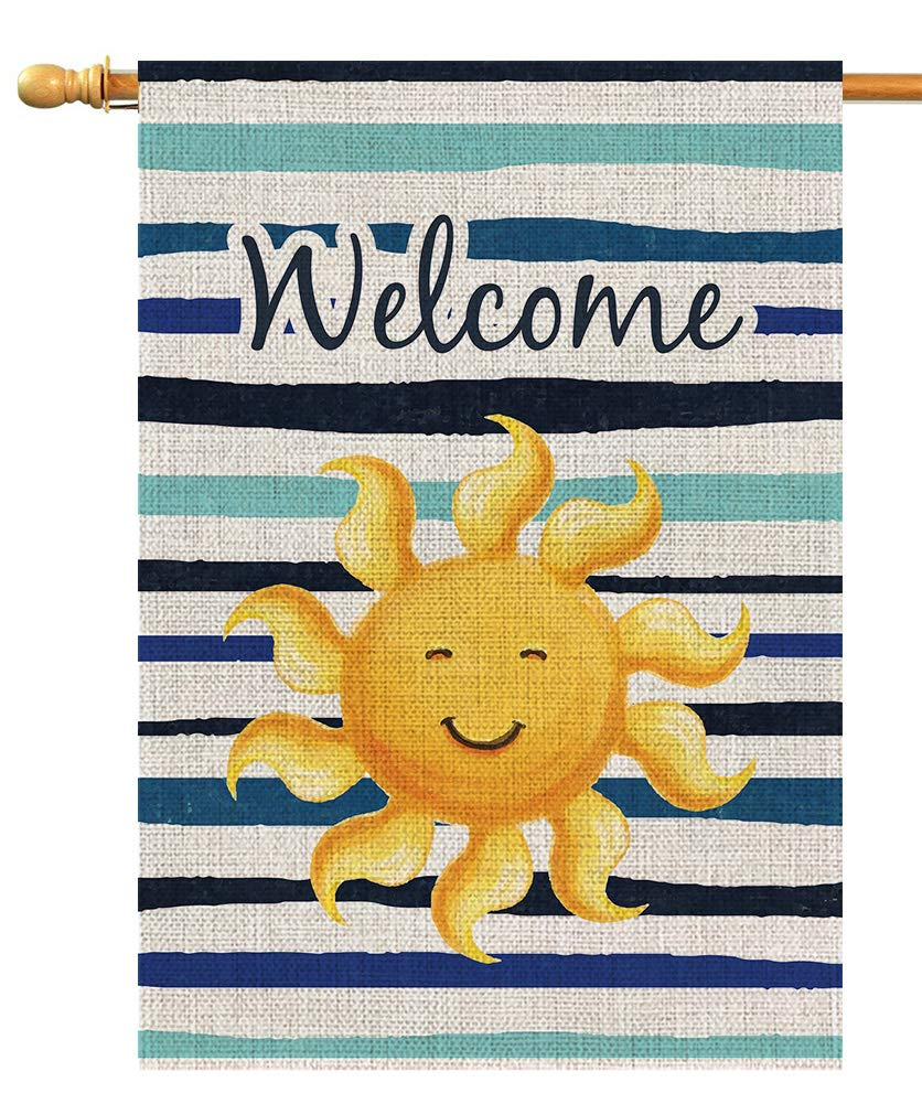 House Flag Welcome Decorative 28x40