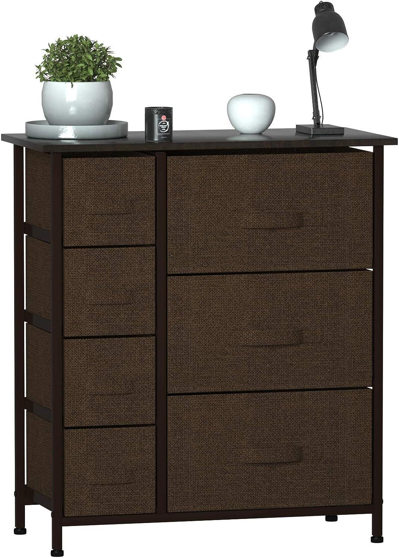 MEOKEY Dresser with 7 Drawers Fabric security Un NEW Storage Tower Organizer