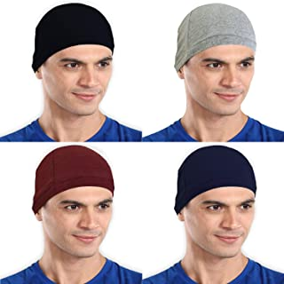 The Blazze Cotton Helmet Cap (Free Size, Black+Grey+Maroon+Navy)