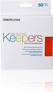 Memorex CD/DVD Keepers - Plastic Sleeves - 50 Pack