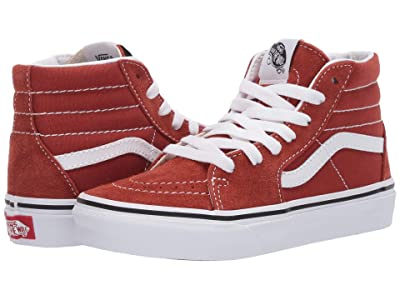 Vans Kids SK8-Hi (Little Kid) (Picante/True White) Kids Shoes