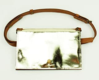 Silver Patent Leather Belt Bag Converts to Cross Body Purse