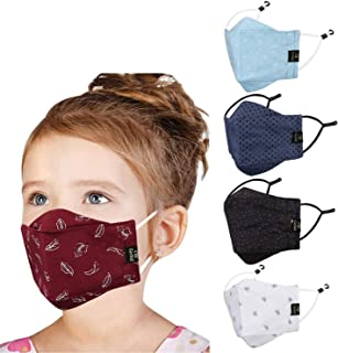 Cenwell Cotton Reuseable Face Mask (Multicolour, Without Valve, Pack of 5) for Boys, Girls & Kids