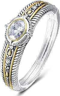 UNY Fashion Brand David Jewelry Double Wire Vintage Bangle Elegant Beautiful