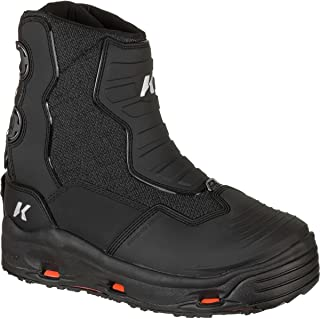 Korkers Hatchback Black Size 7 Fishing Boots With Kling-On And Studded Kling-On