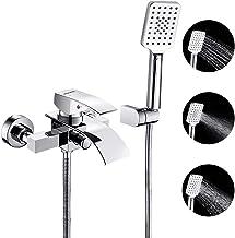 Mainen Thermostat Badewannenarmatur mit Handbrauseset Duschset Duschsystem Schwarz Duschthermostat Brausethermostat mit ABS Handbrause