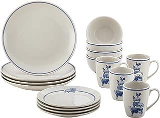 Paula Deen 46795 Stoneware Dinnerware Set, Large, Off-White