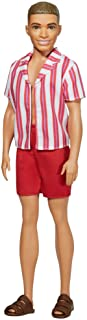 Barbie Ken 60th Anniversary Doll 1 in Throwback Beach Look with Swimsuit & Sandals for Kids 3 to 8 Years Old