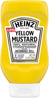 Heinz Yellow Mustard (14 oz Bottles, Pack of 12)