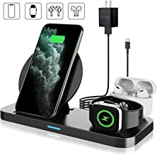Wireless Charger with Adapter, Coobetter 3 in 1 Wireless Charging Station,Wireless Charging Stand Watch Charger Compatible with iPhone 11/11 pro /11 Pro Max/Xs/XS Max/XR/X / 8 /8P