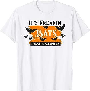It's Freakin Bats I Love Halloween Shirt Funny