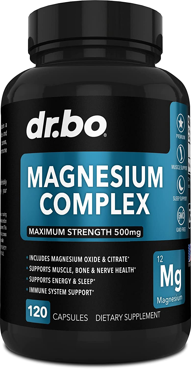 Magnesium Complex Supplement Capsules Direct store 500mg - Energy Support Ranking TOP13 Re