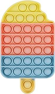 اسباب بازی حسی Fidget EVERMARKET Push Pop Bubbles ، اسباب بازی فشار سیلیکونی Bubble Popper Stress Reliever برای نیازهای ویژه اوتیسم ADHD ، یک روش عالی برای آرامش و شلوغ نگه داشتن کودکان و بزرگسالان (یخچال و فریزر)