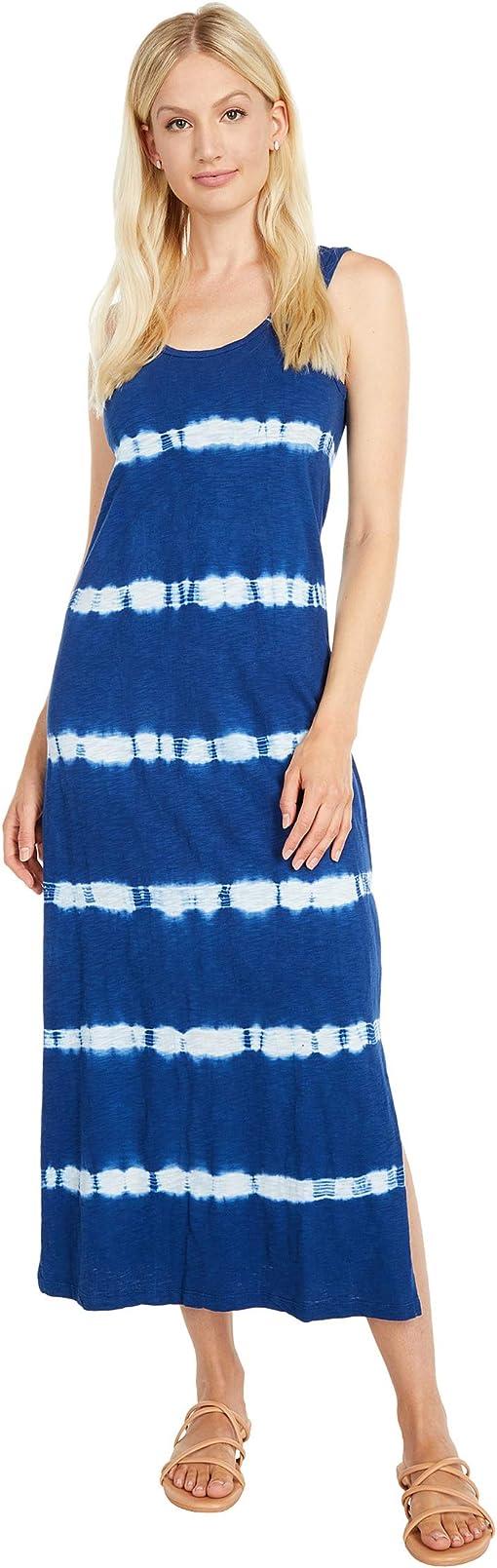 Blue Tie-Dye Stripe
