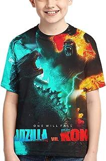 Godzilla Kids T Shirts, Boys Cartoon Monster Shirt Kids T-Shirt 3D Printing Shirt for Boy Girl Summer Tops Tee