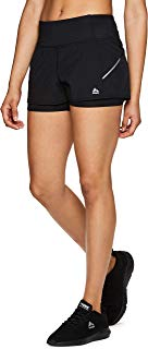 RBX Active Women's Workout Running Shorts with Attached Bike Short