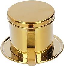 Drip Koffiezetapparaat Drip Koffiepot 304 Rvs Drip Koffie Infuser Huishoudelijke Kantoor Koffie voor Keuken (Gouden)