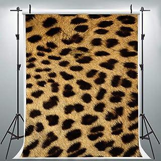 LYLU169 Fotohintergrund mit Leopardenmuster, 1,8 x 2,7 m, stilvoller Hintergrund, Fotoautomaten Requisiten