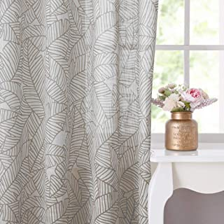 RYB HOME Sheer Curtains Floor to Ceiling, Semi Transparent Curtain Drapes Linen Like Grommets Refreshing Look Privacy Protected for Doorways/Patio Doors, 52 x 95 inches per Panel, 2 Pieces, Taupe