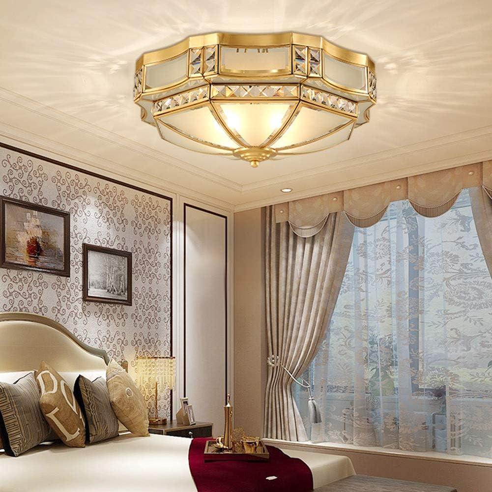 3 Lichter E27x4 100/% Messing Glasdeckenleuchte Err/öten-Einfassung 35x18cm 18 Modern Nordic Klassische Deckenleuchte f/ür Eingang Schlafzimmer Wohnzimmer-4 Lichter 45x19cm