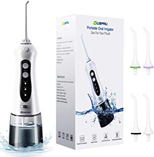 Water Flosser Professional Cordless Dental Oral Irrigator - Portable and Rechargeable IPX7 Waterproof 3 Modes Water Flossing with Cleanable Water Tank for Home and Travel, Braces & Bridges Care