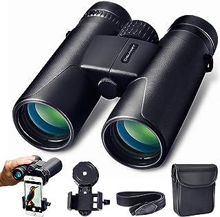 Prismáticos 10x42 Slokey - Binoculares Profesionales y Potentes con Gran Alcance. Ligeros e Impermeables Prismas BaK4 y FMC. Ideales para Observación de Aves Caza Senderismo Astronomía y Camping.