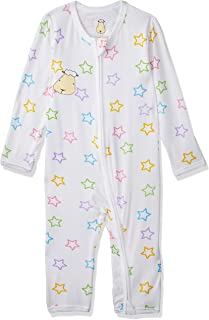 Baa Baa Sheepz Romper with Zip, White, 0-6M, 1 1 count