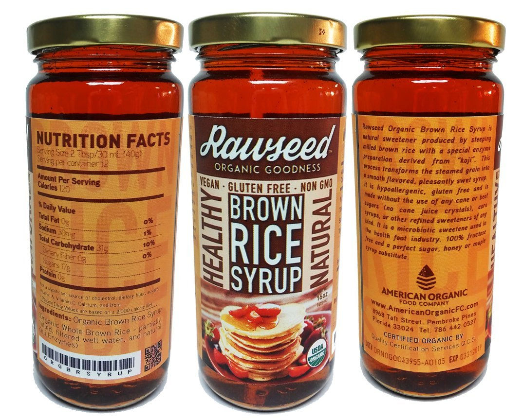 Rawseed Organic Brown Rice Special price for a limited time 3 Outlet sale feature Syrup Pack