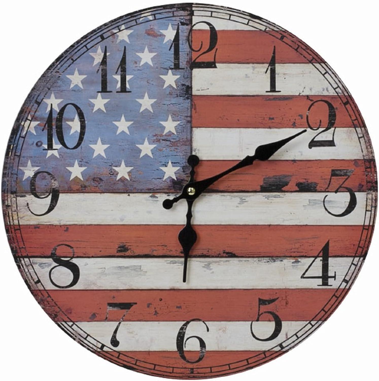 NNIU-WL Reloj de Parojo- Reloj de Parojo Decorativo Creativo de la Sala de Estar casera Reloj de Parojo Decorativo de Madera