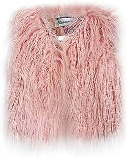 girls pink fur gilet