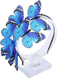AWAYTR Girl Butterfly Fancy Fairy Headband Boho Chic Printed Art Costume Party Tiara Crown Prop Hair Band Hoop Headband