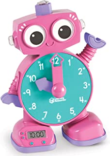Learning Resources LER2385-P Tock the Learning Clock, Pink