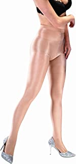 Kffyeye Women's Control Top Thickness Stockings Pantyhose, Ultra Shimmery Stretch Plus Footed Tights