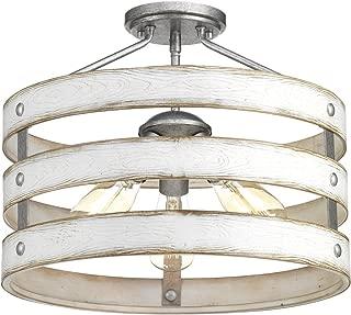 Progress Lighting P350049-141 Gulliver Semi-Flush/Convertible, Galvanized Finish