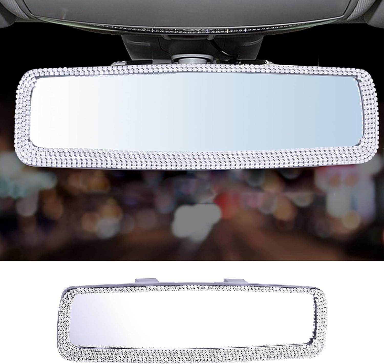 LivTee Bling Car Mirror V Accessories Rhinestone Rear Max 77% OFF NEW