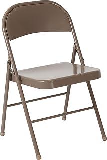 Flash Furniture HERCULES Series Double Braced Beige Metal Folding Chair
