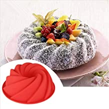 Bakeware 3D Big Swirl Shape Silicone Butter Cake Mould Kitchen Baking Form Tools For Cake Bakery Baking Dish Bakeware Mold...