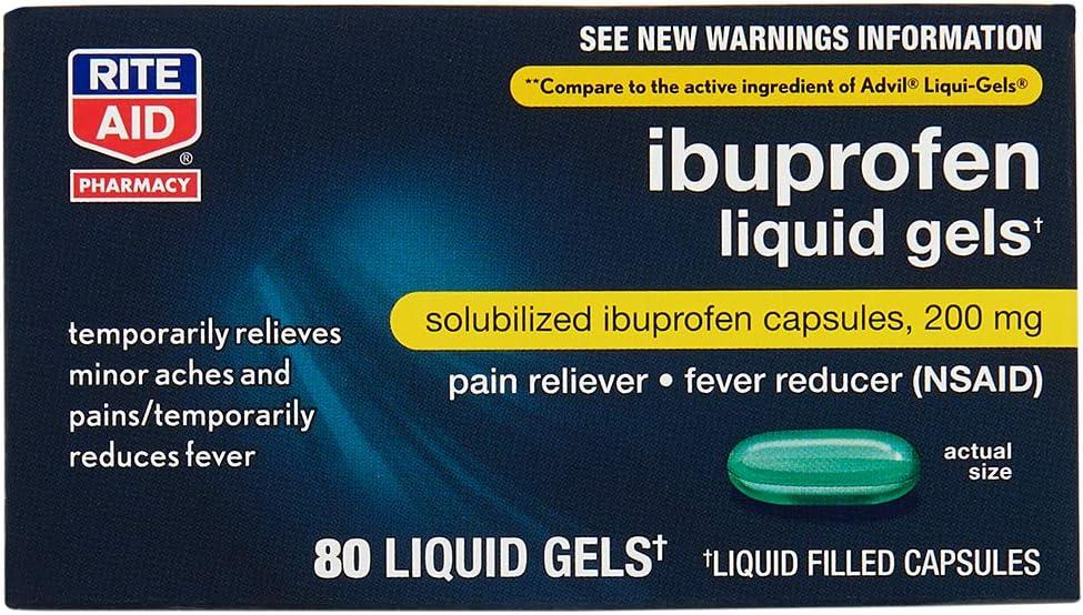 Rite Aid Ibuprofen Liquid Gels, 200mg - 80 ct