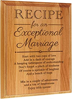 ThisWear Wedding Gifts Ideas Recipe an Exceptional Marriage Wedding Plaques Wedding Gifts Bride Groom 7x9 Oak Wood Engraved Plaque Wood