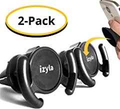 izyla Pop Socket Car Mount for Cell Phone [2 Pack] - Pop Socket Holder Air Vent designed for Android or iPhone with Pop Clip | Sturdy Car Vent Mount with 360 Grip & Lock for GPS Navigation [2 Mounts]