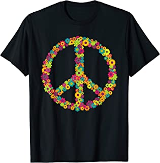 062edd3ba7220 Peace Love 60er 70er Jahre Flower Power Hippie Kostüm Shirt
