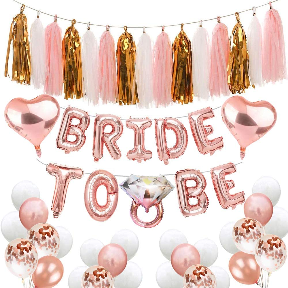 Bride To Be and Engagement Ring Balloons for Hen Bachelorette or engagement parties