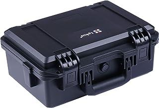 Lykus HC-3310 waterdichte koffer met aanpasbaar schuim, binnenmaat 33x21x13.5 cm, geschikt voor pistool, DSLR-Camera, klei...
